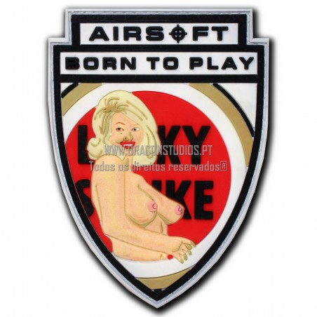 PATCH PVC BORN TO PLAY AIRSOFT